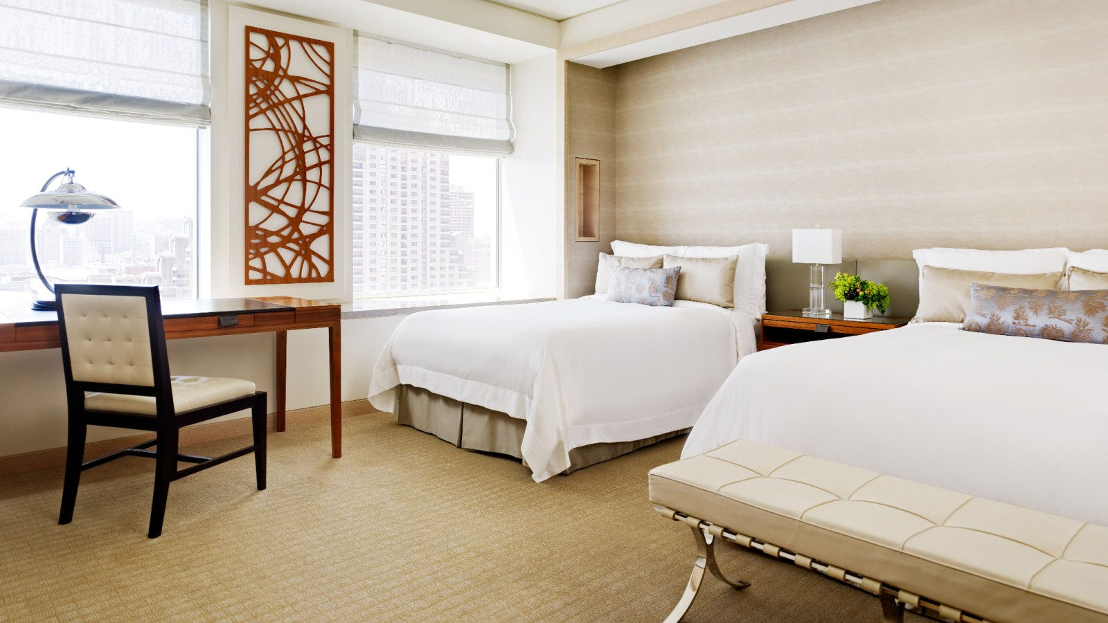 The interior of a Grand Deluxe Guest Hotel Room available at the downtown St. Regis San Francisco