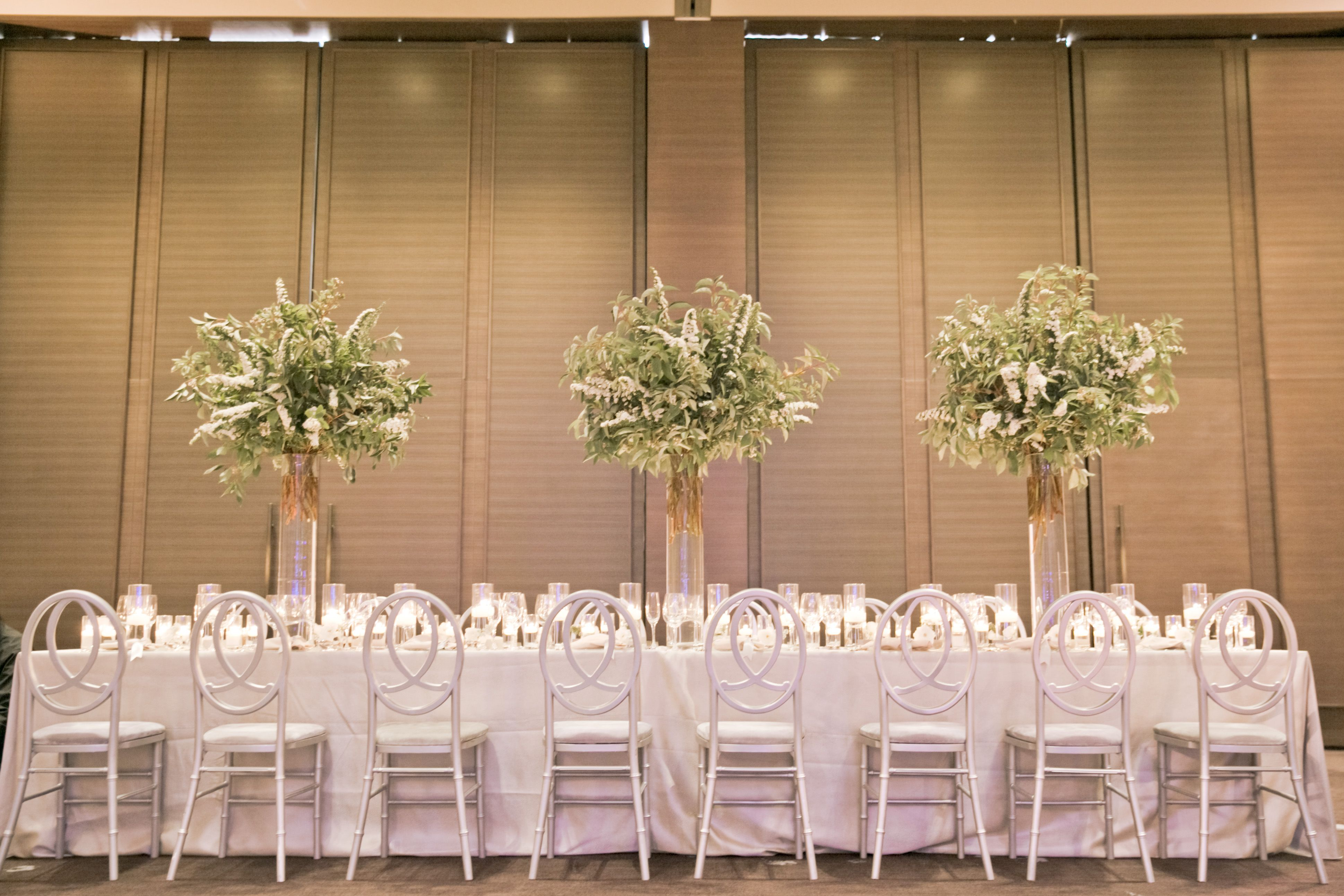 Timeless decor set up for a wedding at The St. Regis San Francisco
