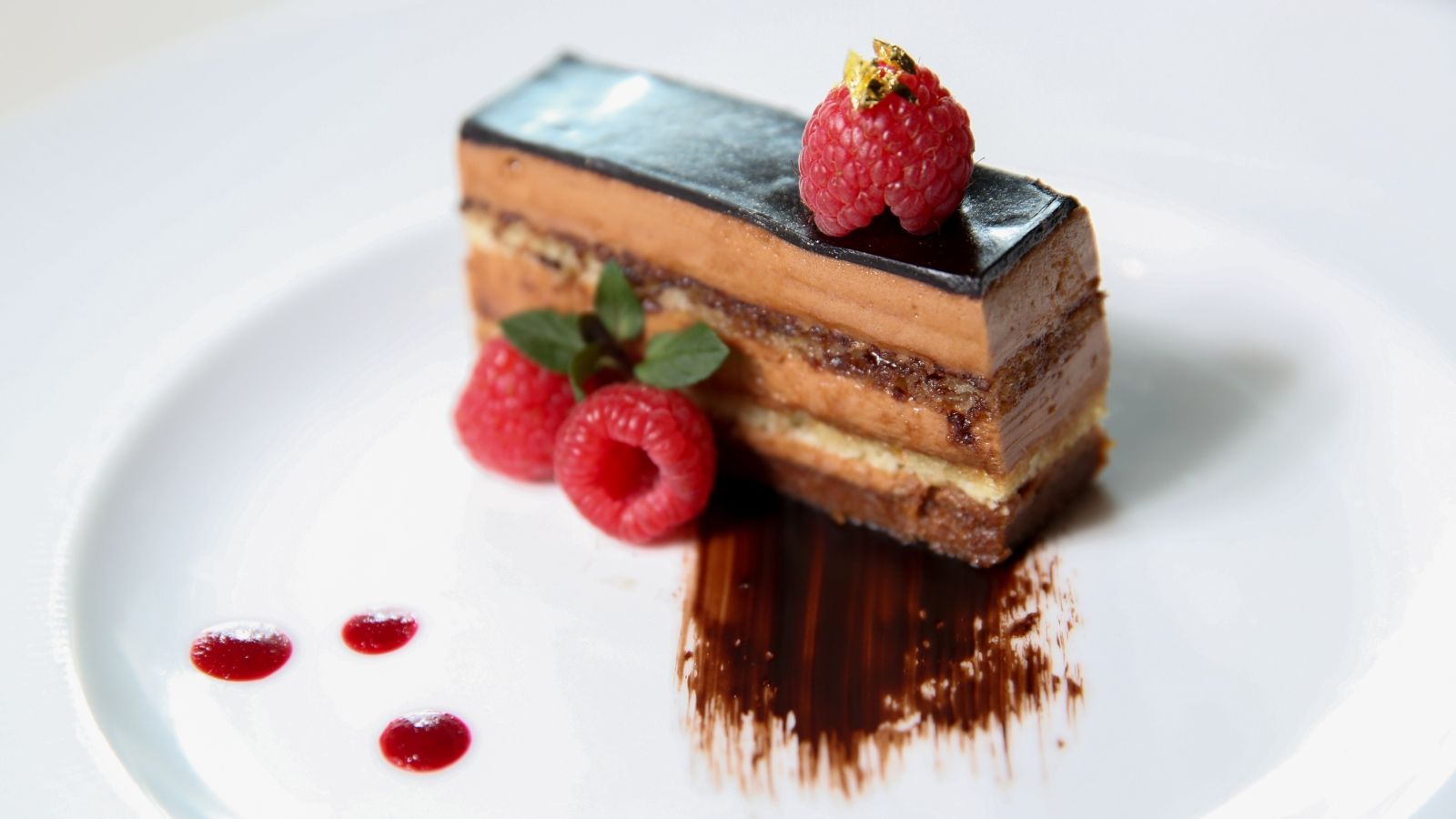 Carmelia Opera Cake at Grill Restaurant at The St. Regis San Francisco