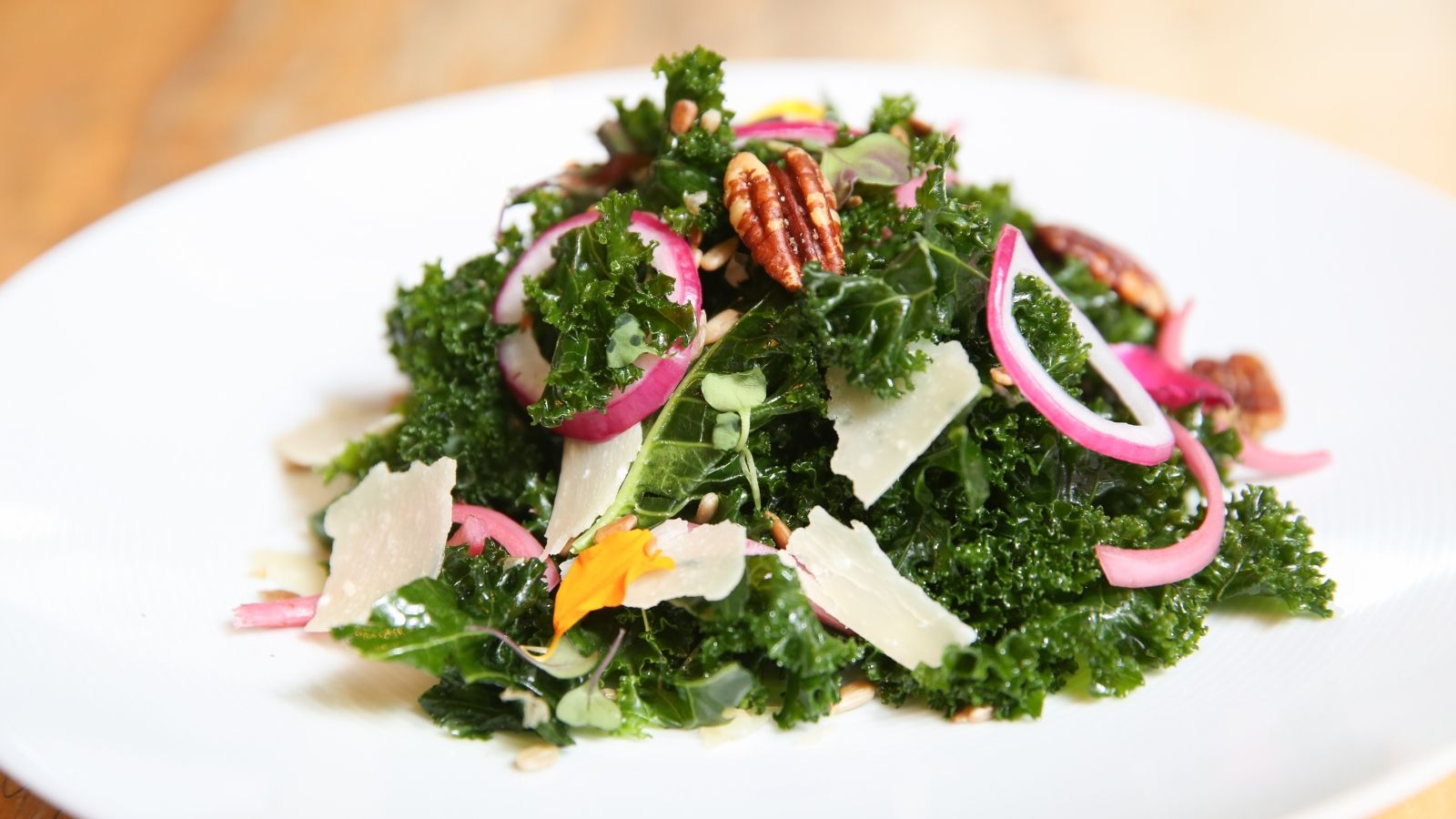 Yuzu Marinated Kale Salad at Grill Restaurant at The St. Regis San Francisco